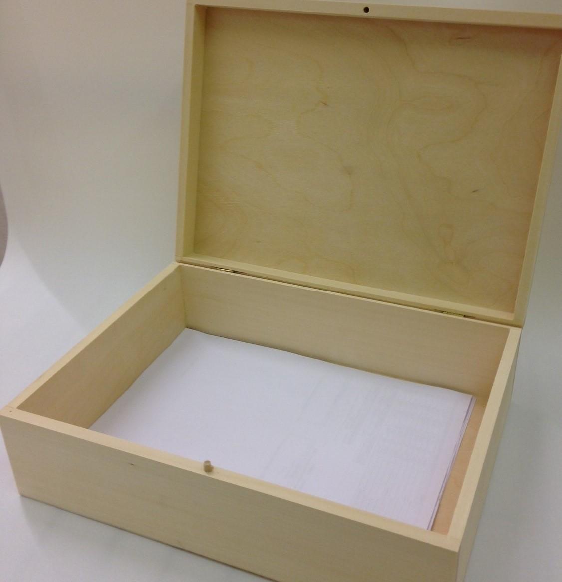 Unpainted Natural Wooden Box Souvenir A Size Memory Box Magazine Documents Storage Case Me
