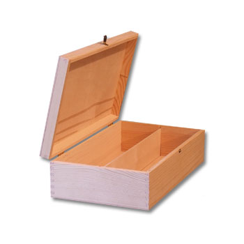 Plain Wooden Wine Box Wine Case Gift Box With Hinges 2 Bottle