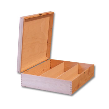 Plain Wooden Wine Box Wine Case Gift Box With Hinges 3 Bottle