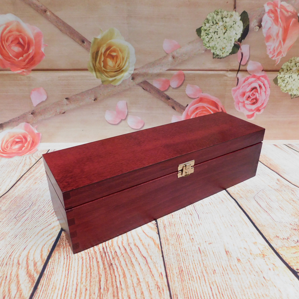Lacquered Wooden Wine Box Wine Case Gift Box With Hinges 1 Bottle