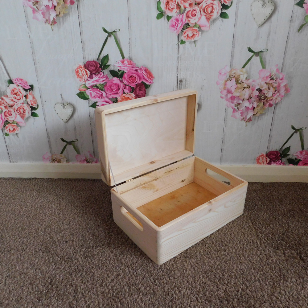 Box  Perfect for Decoupage Wooden Suitcase