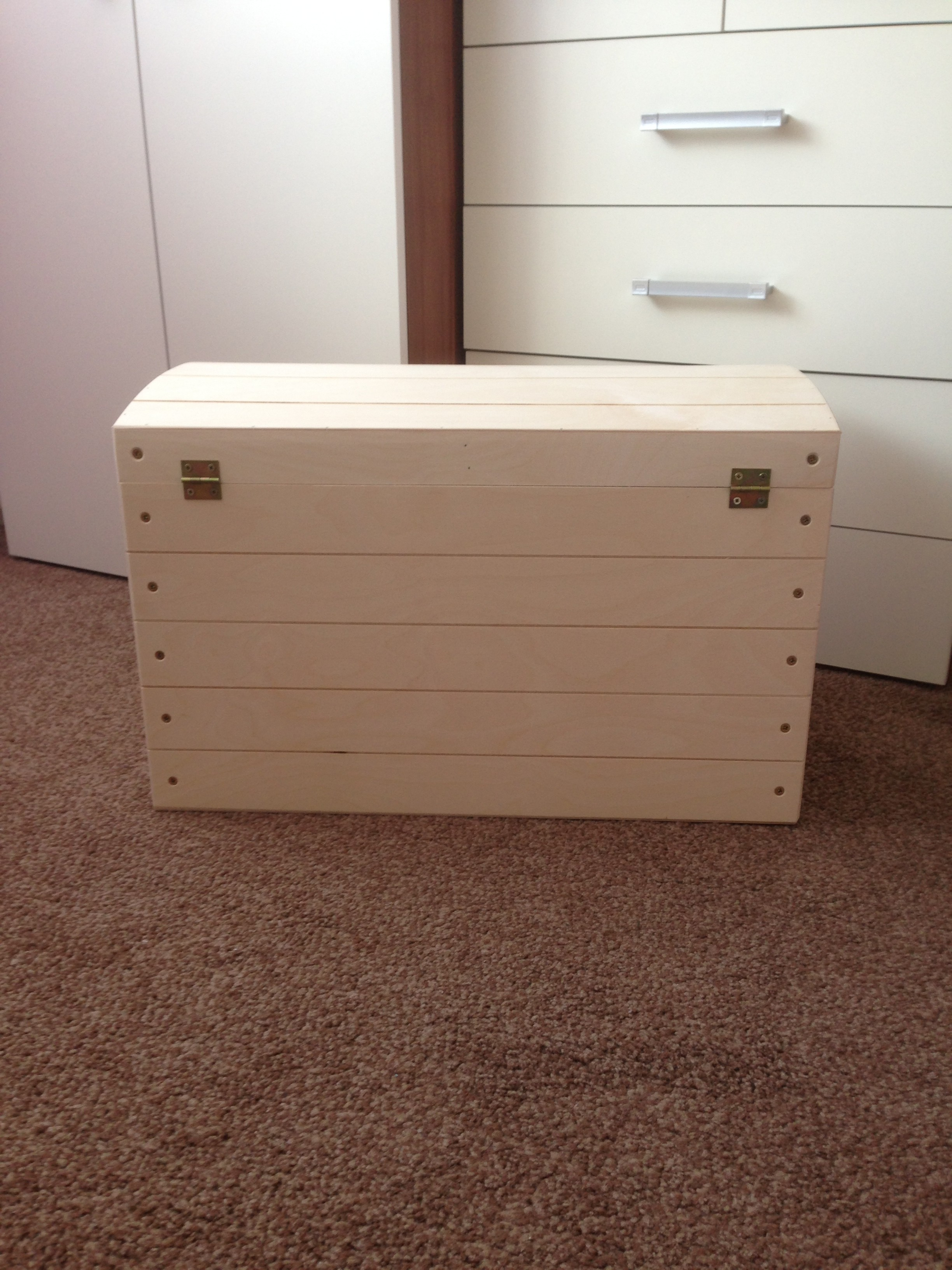 Large unfinished wooden box from natural from ...  |Large Unfinished Wooden Boxes