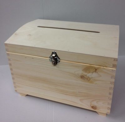 Large Wedding Card Plain Raw Box with a slot/ Storage Chest ...
