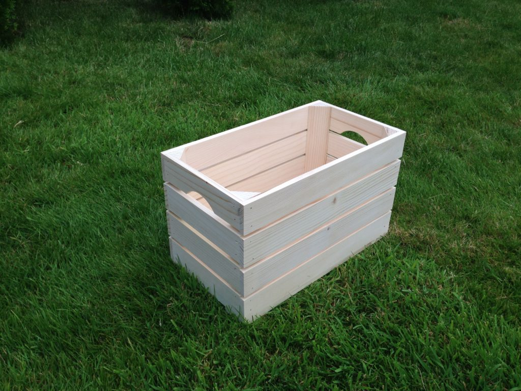 Natural strong untreated plain tray wooden crate storage for Craft crates