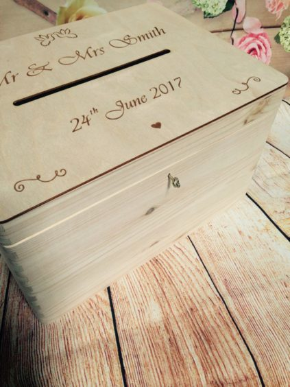 Lockable Wedding Guests Wish Wooden Post Box With Slot Wedding Cards